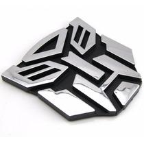 Emblema Autobots Acabado Metalico Transformers