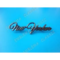 Emblema Chrysler New Yorker Laterales Dorado