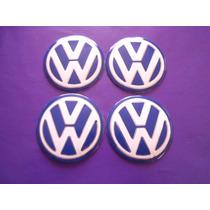 Centros De Rin Emblemas Volkswagen Universales 7 Cm.