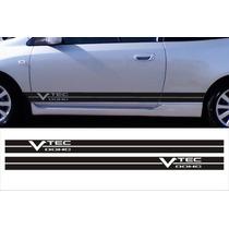 Franjas Sticker Vtec Fits Honda Civic Accord Side Stripes