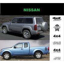 Sticker Vinil Franja Trasera Nissan 4x4 Frontier Pathfinder