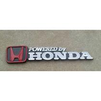 Emblema H Powered By Honda Jdm Civic Accord Universal