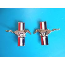 Emblemas Caballos Mustang Ford Metalicos 7 Cm. De Largo