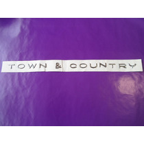 Emblema Town & Country Camioneta