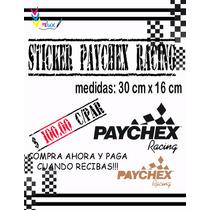 Sticker Paychex Racing Para Autos