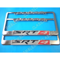 Emblemas Porta Placas Dodge Srt 4 Metalicos