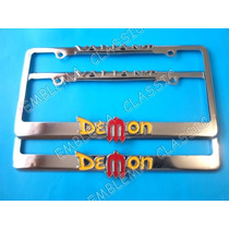 Emblemas Porta Placas Valiant Demon Duster Plymouth Dodge