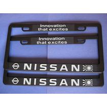 Juego 2 Portaplacas - 4 Tapones C/seguro Logo Nissan