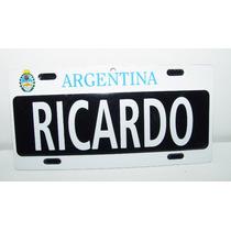 Placa De Lamina Adorno Argentina