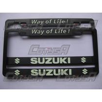 Juego De Marcos Portaplaca Plasticos Para Suzuki
