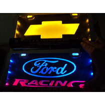 Porta Placa De Acrilico Con Luz Ford Chevrolet Gm Dodge