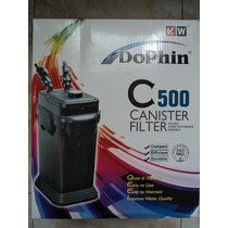Filtro Canister Dolphin C500 Acuario 100-180litros 1070l/h
