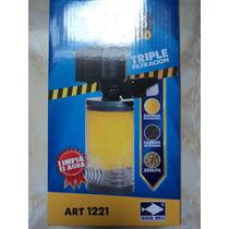 Filtro Supertornado 450l/h Triple Filtración Acuario 90-150l