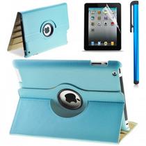 Barata Funda Ipad Apple 4 3 2 Piel 360º Giratoria, Case Au4