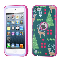 Funda Protector Triple Layer Apple Ipod Touch 5g Rosa / Verd