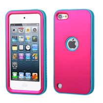 Funda Protector Mixto Apple Ipod Touch 5g Rosa / Azul Antide
