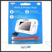 Kit De Micas Y Stylus Oficial Nintendo Wii U Original Pdp