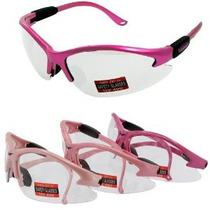 Mediano Gafas De Seguridad Cougar Rosas (el Color Rosa Puede