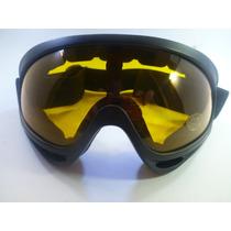 Goggle Tipo Motociclista Lente Google Color Ambar
