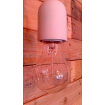 Porta / Guarda Soquet Ceramica En Color Para Candil/lampara