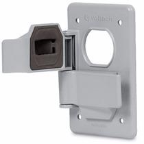 Placa Duplex Para Dos Contactos De Intemperie Voltech 46410
