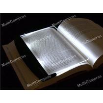 Lampara De Lectura Panel Luz Led Placa Libro Cuña Noche