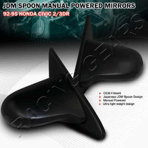 Espejos Estilo Spoon Sports Honda Civic 1992 - 1995 Jdm Vtec