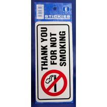 Fumar Sign - Gracias Por No Pegatina Oblong Aviso
