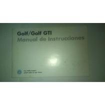 Manual De Propietario De Golf Y Golf Gti 1990 Original