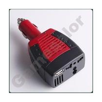 Adaptador Convertidor De 12v Dc A 220v Ac. Usb