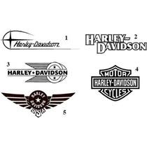 Jgo De 3 Calcomanias De Harley Davidson