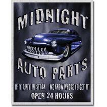 Poster Metalico Litografia Lamina Decorativa Auto Parts