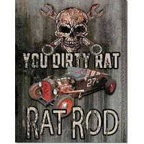 Poster Metalico Litografia Letrero De Lamina Rat Rod Hot Rod