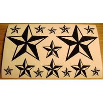 Jgo De 15 Calcomanias De Estrellas Nauticas