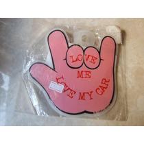 Adorno Automovil Mano Rosa Pink Hand Rock Sign By Crazy Gang