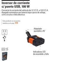 Inversor De Corriente C/ Puerto Usb Para Auto