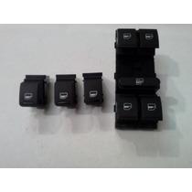 Vw Bora Juego Botones Negros 4 Puertas