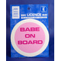 Titular Disc Impuestos - Licencia De Babe Pink On Board