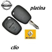 Carcasa Platina Y Clio Control Con Llave Nueva Original
