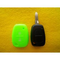 Funda De Silicon Llave Control Renault Platina Verde