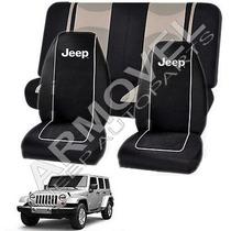 Jeep Wrangler Jk - Juego 3 Fundas Forro Cubre Asientos