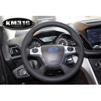 Funda Piel Volante A Medida Ford Focus Escape Hilo Negro