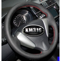Funda Piel Volante A Medida Nissan Tiida, Sentra Hilo Rojo