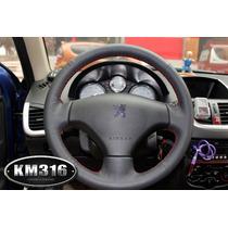Funda Piel Volante A Medida Peugeot 206 207 Costura Negra