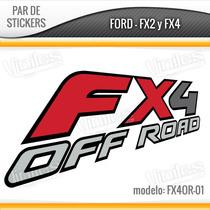 2 Vinilos, Stickers, Calcas Fx4 Off Road Camionetas Ford