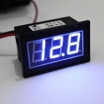 Medidor De Voltaje 12v Azul - Car Audio |