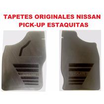 Tapetes Originales Nissan Pick Up/estaquitas Uso Rudo Vinil!