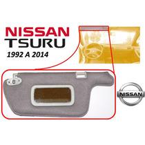 92-14 Nissan Tsuru Visera Parasol Con Espejo Izquierdo Gris