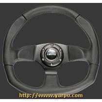 Volante Para Carro Con Aplicacion De Piel 320mm Color Cromo