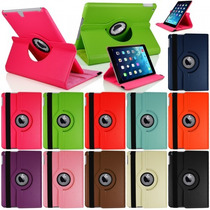 Barata Funda Ipad Apple 4 3 2 Piel 360º Giratoria, Case Au1
